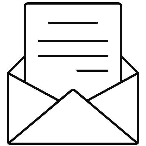 letter, mail, message, open, icon