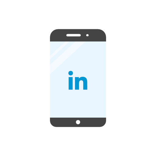 linkedin, logo, mobile, website, icon