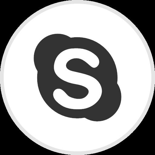 Online Skype Social Icon Black White Social Media