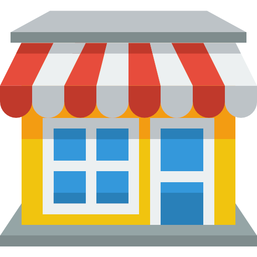 shop, boutique, chain, deli, department store, emporium, market, mill, outlet, showroom, stand, store, supermarket, five-and-dime