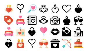 Valentines Day Icons 2017