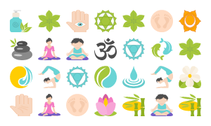 Yoga Vector Icon Set