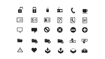 Simple and concise free icons